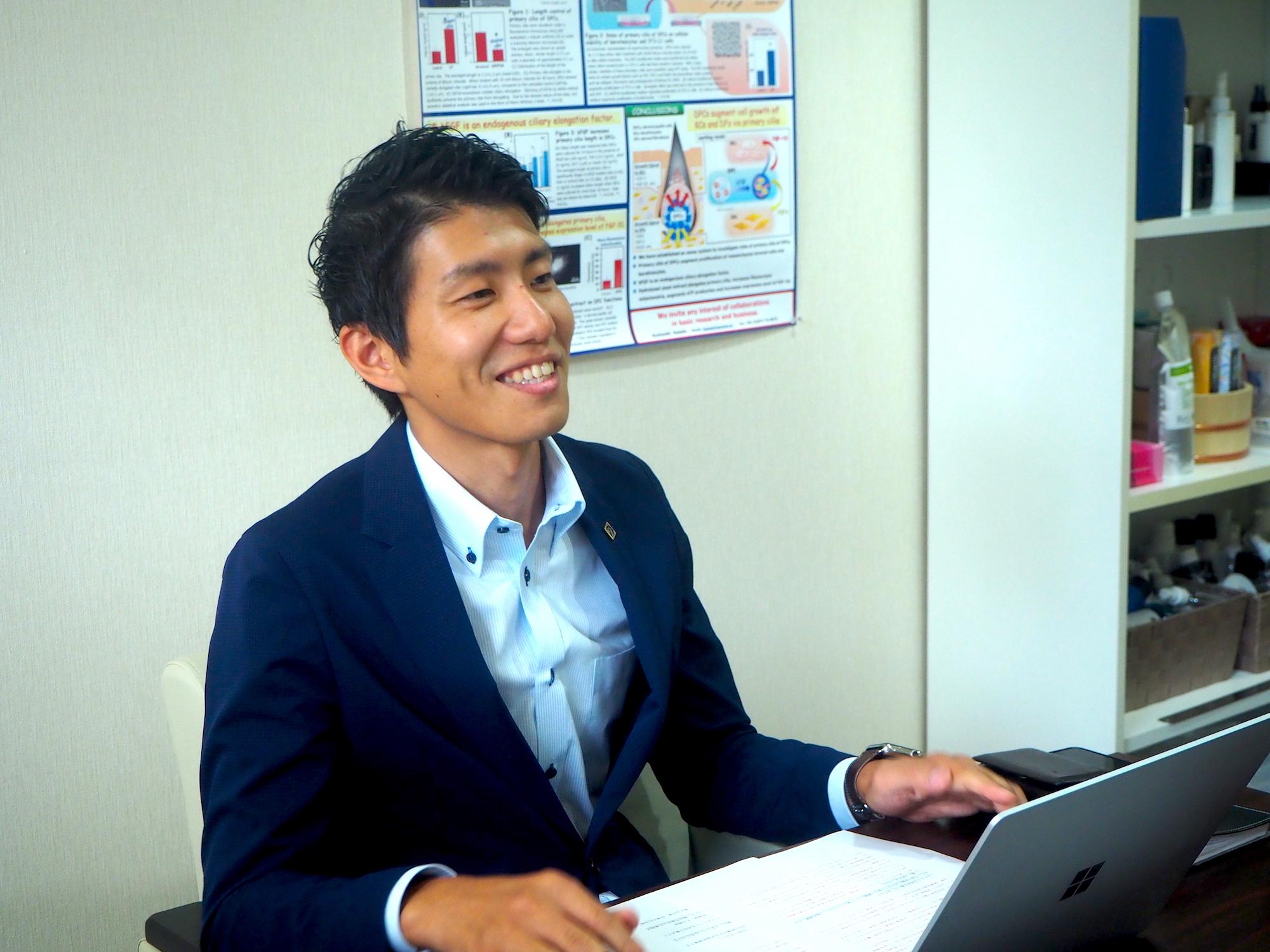 株式会社サラヴィオ化粧品濱田社長の写真
