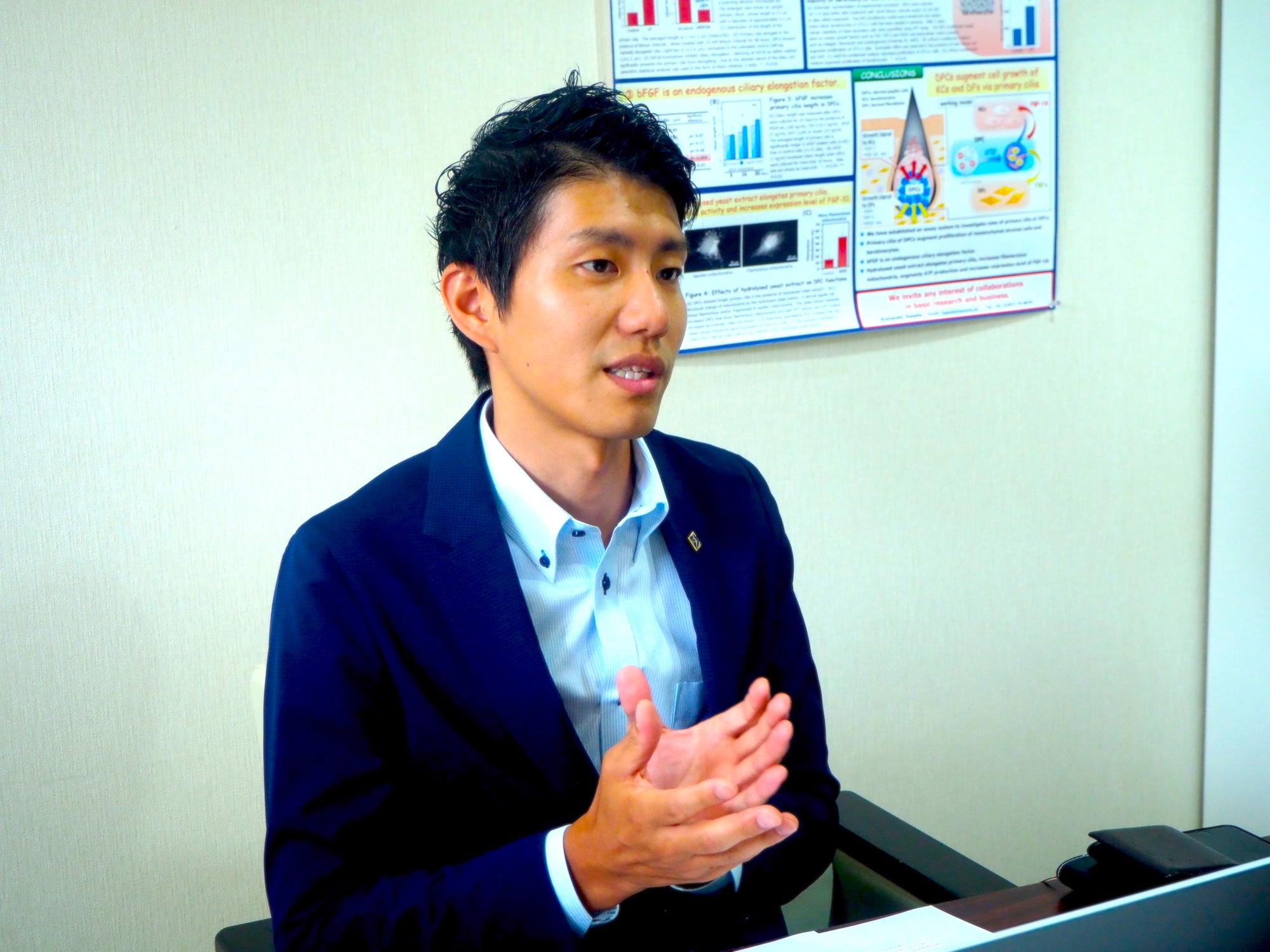 株式会社サラヴィオ濱田社長の写真